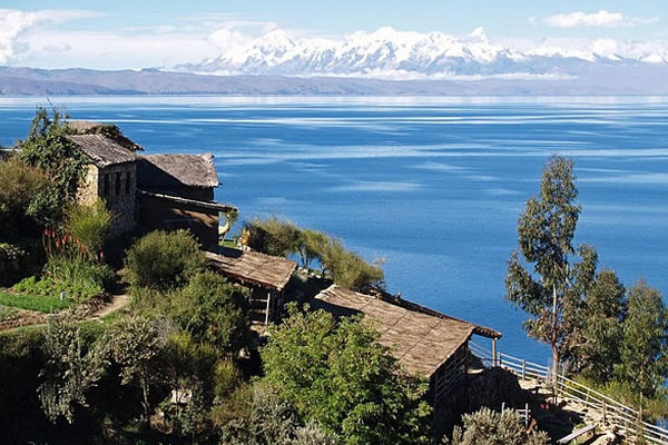 Stunning views from Amantani Island, on the Peruvian side of Lake Take Titicaca