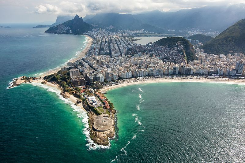 beautiful view of Rio de Janeiro beaches from above